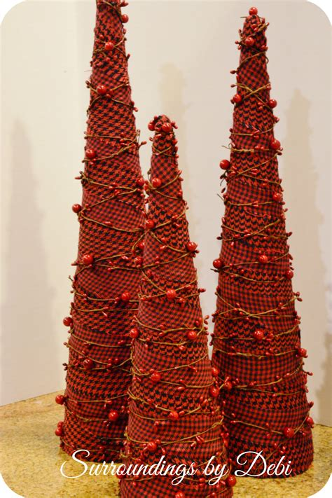 diy fabric christmas trees simple holiday decor