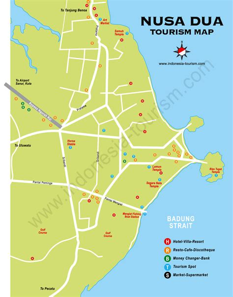 detail nusa dua map  holidays lover bali weather