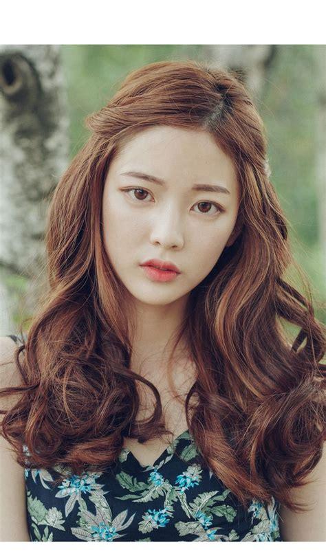 korean girl long hairstyle fade haircut
