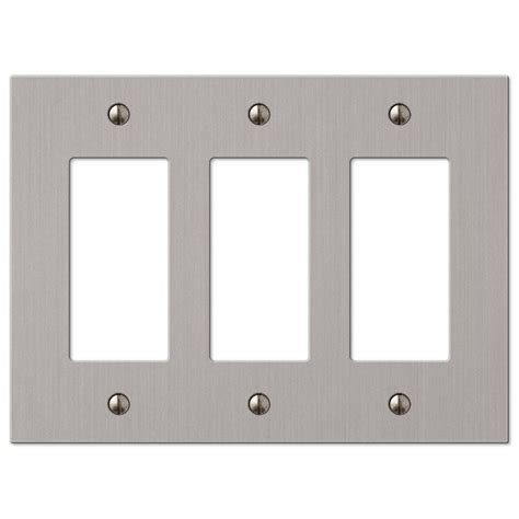 hton bay elan 3 decorator wall plate brushed nickel