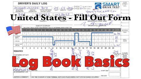 fill   form correctly united states log books youtube