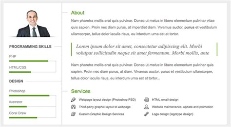 next vcard resume theme wpexplorer