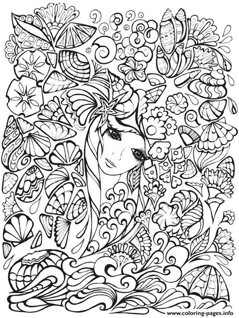 print creative haven fanciful faces adults  coloring pages disney princess coloring pages