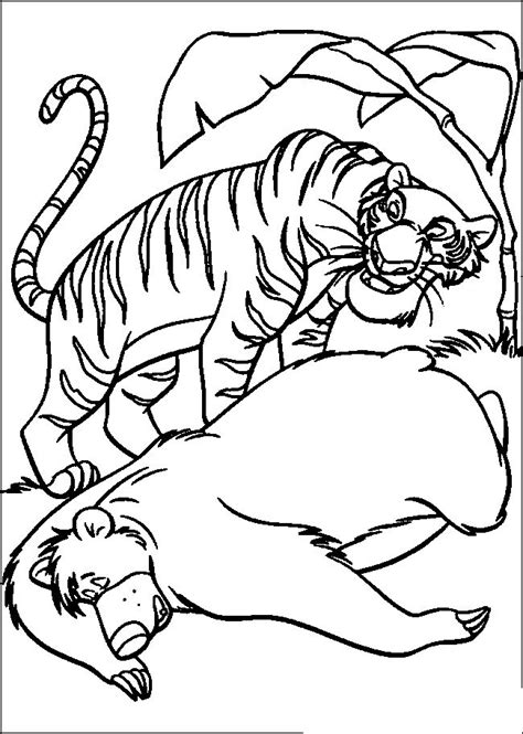 jungle book shere khan  baloo jungle book coloring