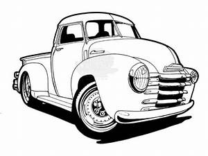 free coloring page of chevy 6476 bestofcoloringcom With 1953 ford hot rod