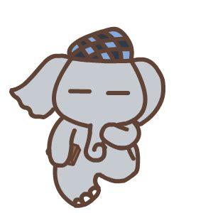 cute elephant animation emoji funny gifs box emoji