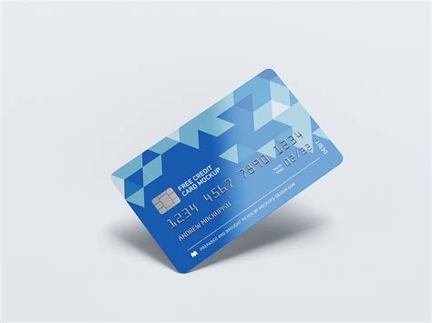 Have your customer authorize the card on file for future purchases by entering their billing zip code. Free credit card mockup - Mockups Design   Free Premium Mockups