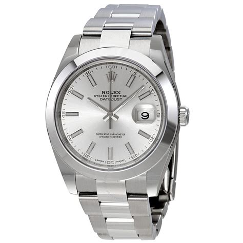 Rolex Datejust 41 Silver Dial Stainless Steel Automatic ...