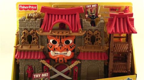 fisher price imaginext samurai castle ninjas youtube