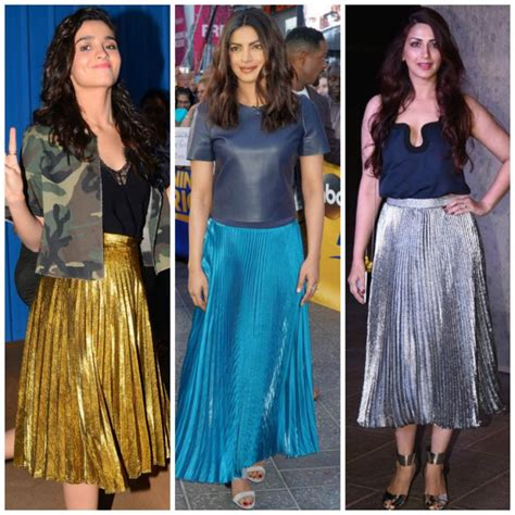 bollywood actress wearing long skirts the metallic midi skirt is adding a dose of glam to