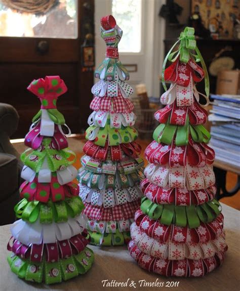 ribbon tree tutorial christmas pinterest