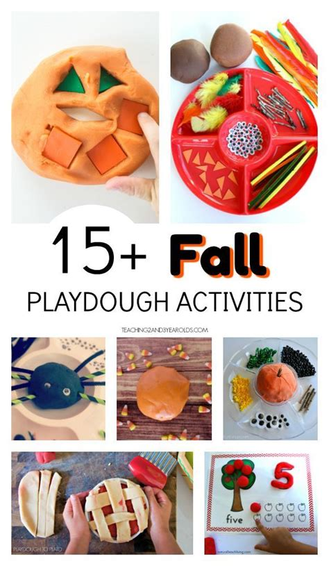 fun fall playdough ideas  kids playdough