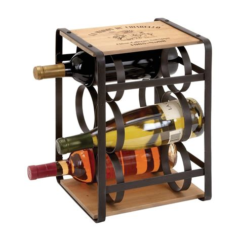 tabletop wine rack woodland imports 56173 tabletop wine rack atg stores