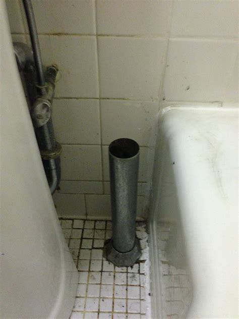 external tower style bathtub drain work