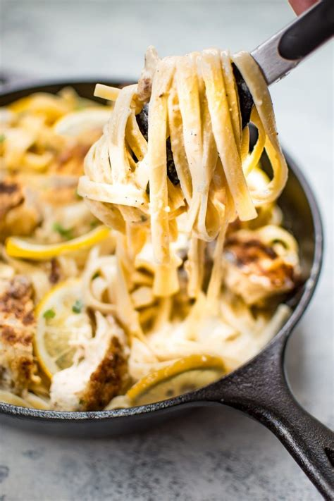 Hot sauce is added to both the shredded chicken and the here's an easy, tantalizing chicken breast recipe that makes a delicious topping for angel hair pasta or spaghetti. Lemon Parmesan Chicken Alfredo Recipe • Salt & Lavender