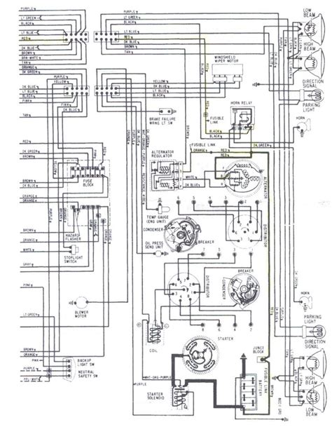 67 Chevy 2 Column Wiring Schematic by Electrical Problem Chevelle Tech