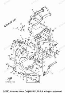 Yamaha Motorcycle 2005 Oem Parts Diagram For Frame