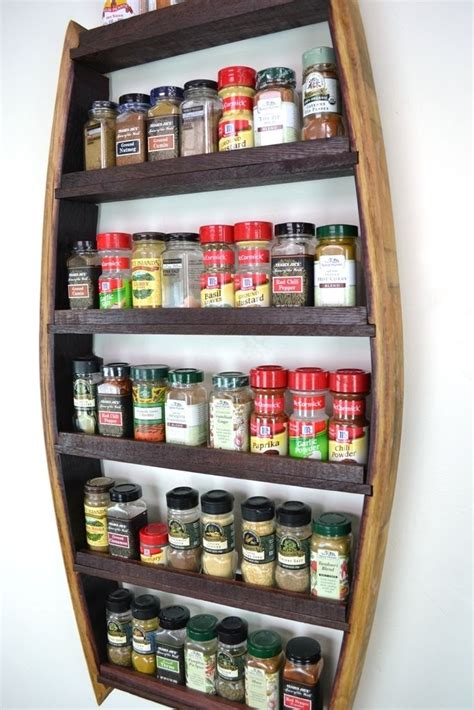 Custom Spice Rack by Buy A Custom Made Thyme Wine Barrel Spice Rack Made To