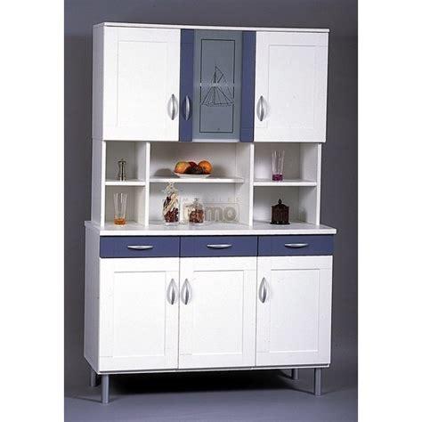 meuble buffet cuisine buffet de cuisine bleu et blanc bc3 meubles elmo