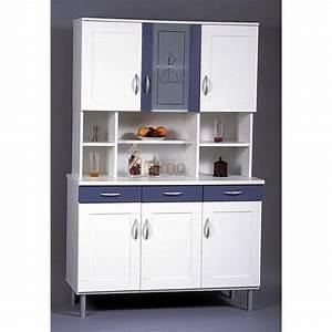 Meuble Buffet Cuisine : buffet de cuisine bleu et blanc bc3 meubles elmo ~ Teatrodelosmanantiales.com Idées de Décoration