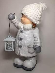 Deko Figuren Shop : deko winterkinder mit laterne gartenfiguren aus magnesia dekofiguren ca 38cm ~ Indierocktalk.com Haus und Dekorationen