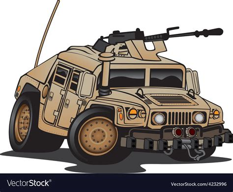 Free vectors and icons in svg format. US Military Humvee Cartoon Royalty Free Vector Image