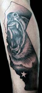 80 California Bear Tattoo Designs For Men - Grizzly Ink Ideas