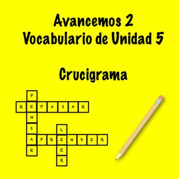 Spanish song, toca tu cabeza. Spanish Avancemos 2 Vocab 5.2 Crossword by Srta's Spanish Smorgasbord