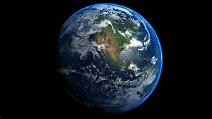 Earth globe spinning and rotating in a 360° loop animation ...