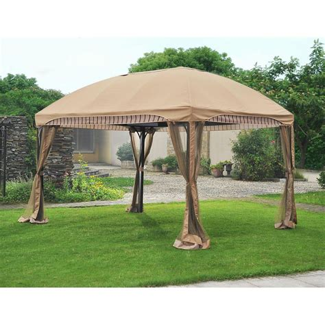 sunjoy gazebo sunjoy cantina 10 ft x 13 ft domed top gazebo the home depot canada