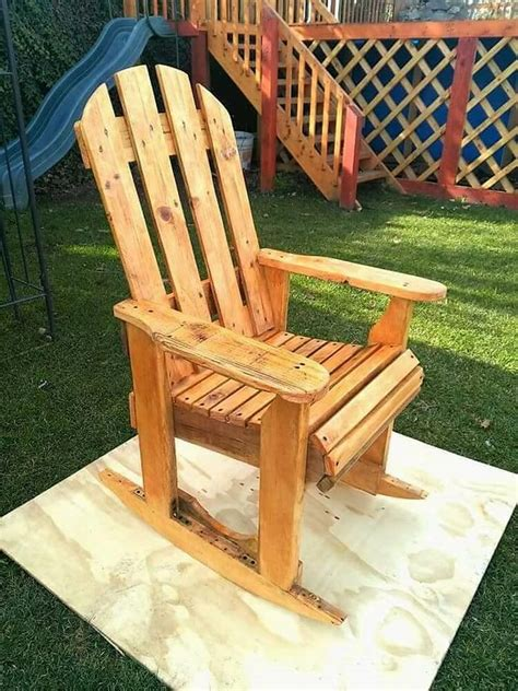 diy wood pallet rocking chair plan pallet wood projects