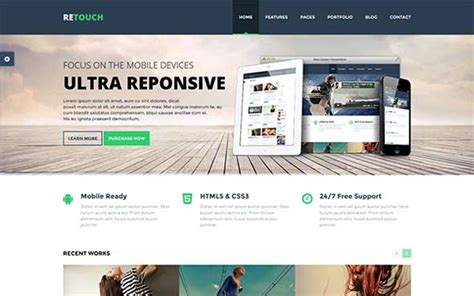 twitter bootstrap html templates free download 25 latest bootstrap themes free download designmaz