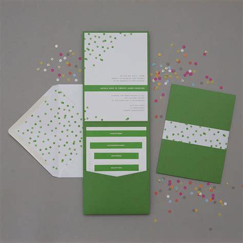 pocket folder wedding invitation suite sample  dearlc
