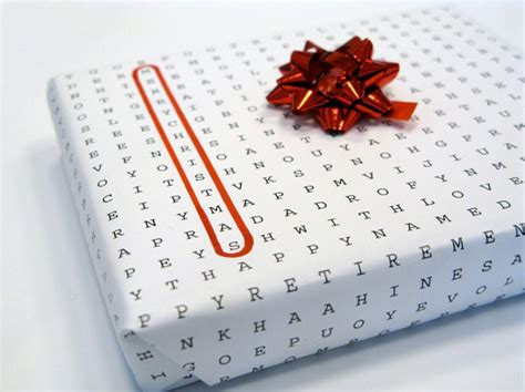 word puzzle universal wrapping paper the dieline