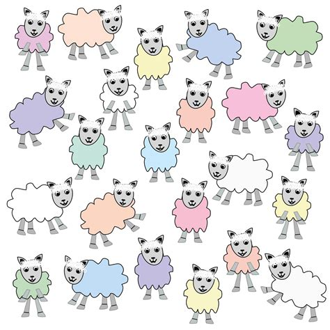 colorful sheep  stock photo public domain pictures