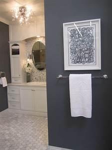 cream gray bathroom | For the Home | Pinterest