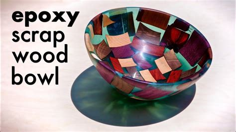 epoxy resin  scrap wood bowl woodturning