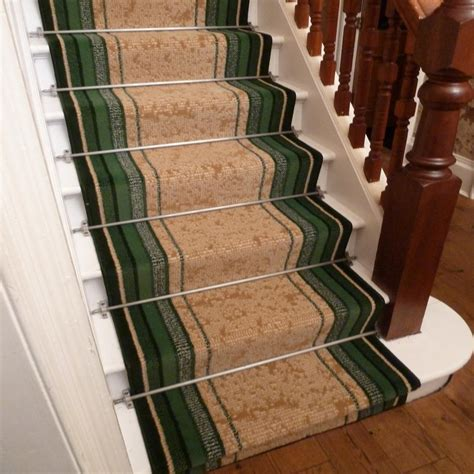 green stair carpet runner striped carpet runners uk