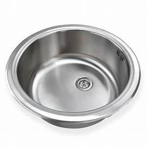 Küchenspüle Keramik Oder Edelstahl : edelstahl einbausp le ronda1 waschbecken sp le k chensp le rund ~ Markanthonyermac.com Haus und Dekorationen