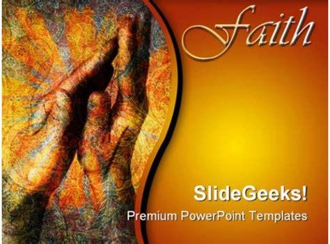 faith hands religion powerpoint templates  powerpoint