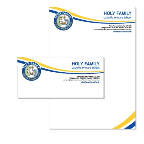school letterhead holy family catholic primary school