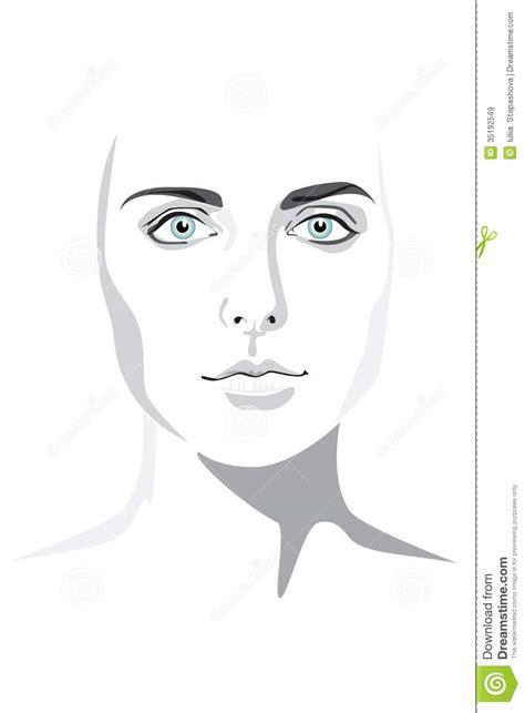 beautiful woman face hand drawn illustration eps royalty