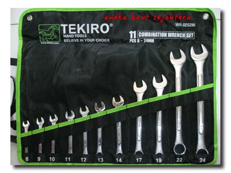 harga tekiro 11pcs 8 24mm kunci ringpas set