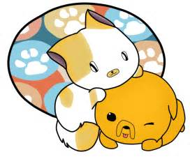Cute Cartoon Kittens and Puppies
