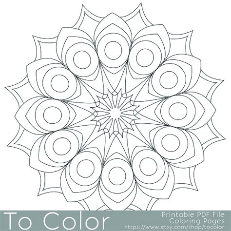 printable circular mandala easy coloring pages for adults big