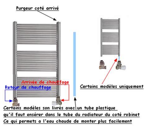 info comment poser  raccorder  radiateur seche