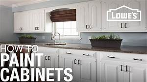 how to paint cabinets youtube With kitchen cabinets lowes with stop sign stickers
