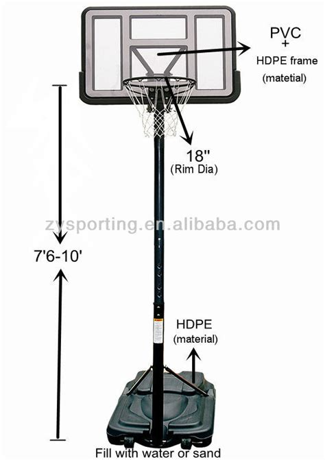 zy power jam basketball hoop stands view basketball hoop