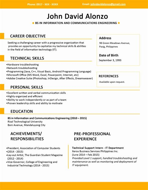 jobstreet resume sample  samples examples