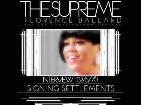 florence ballard interview  signing settlements
